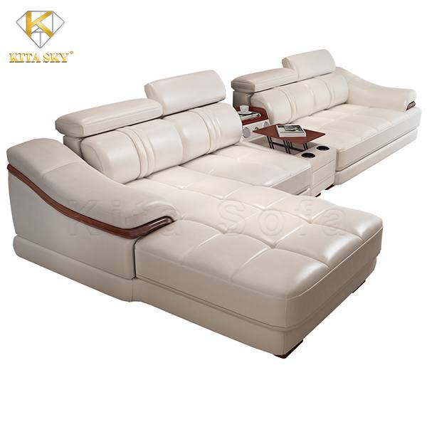 Sofa da chữ L Allen mang vẻ đẹp đẳng cấp và ấn tượng