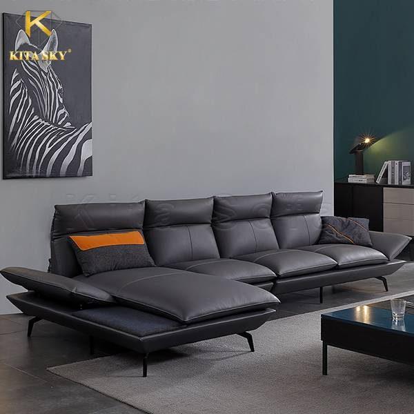 Deni là mẫu sofa da góc đẹp nhập khẩu với lối thiết kế hiện đại, tinh tế