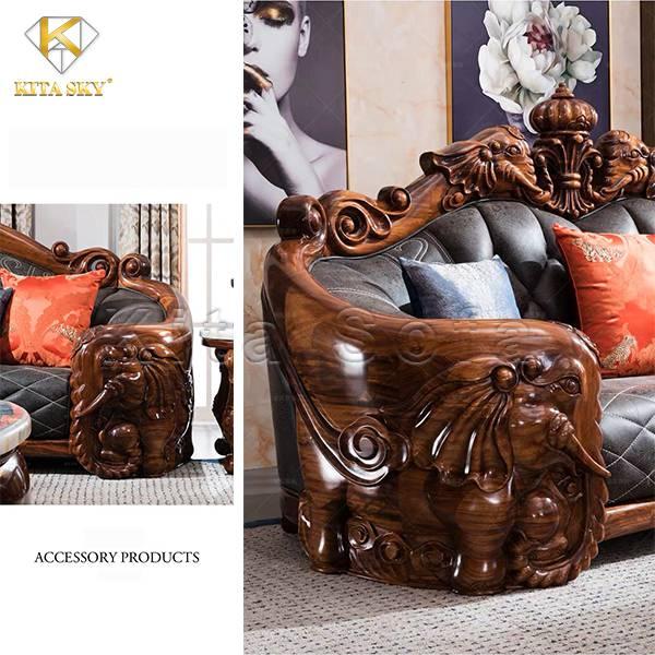 Sofa da nhập khẩu từ châu Âu rất tinh tế thẩm mỹ.