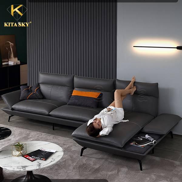 Những mẫu sofa góc da đẹp cao cấp từ Kita mang đến lại sự thoải mái cho người sử dụng.