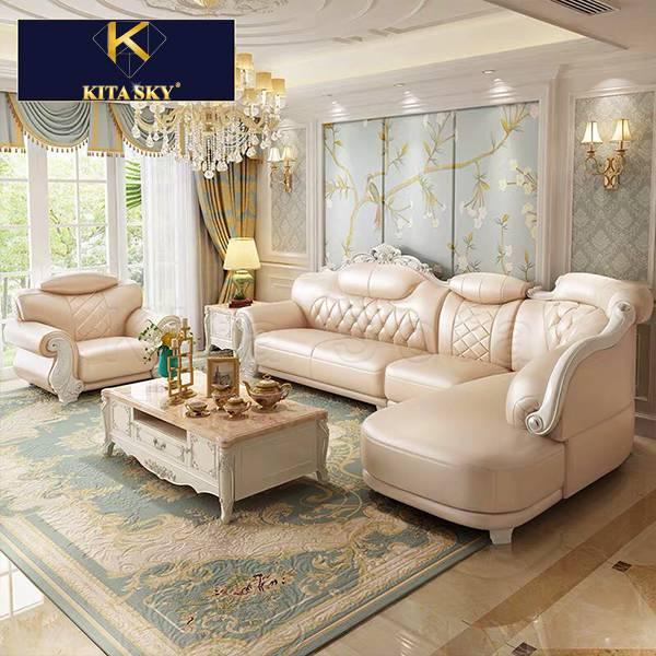 Sofa góc tân cổ điển mang đến cho gia đình không gian phòng khách hoàn hảo