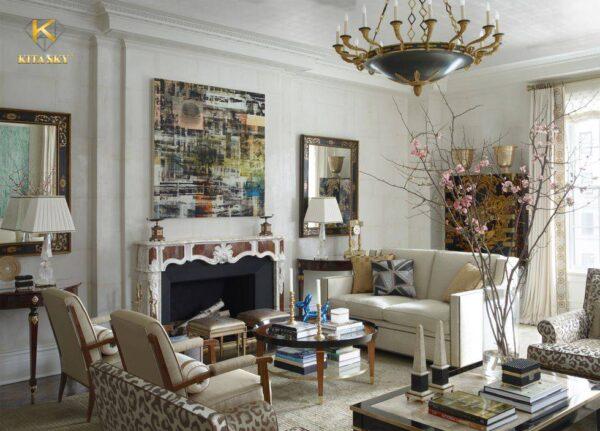 Người châu Âu rất thích sơn nhà màu trắng và trang trí nội thất màu gỗ đi kèm.