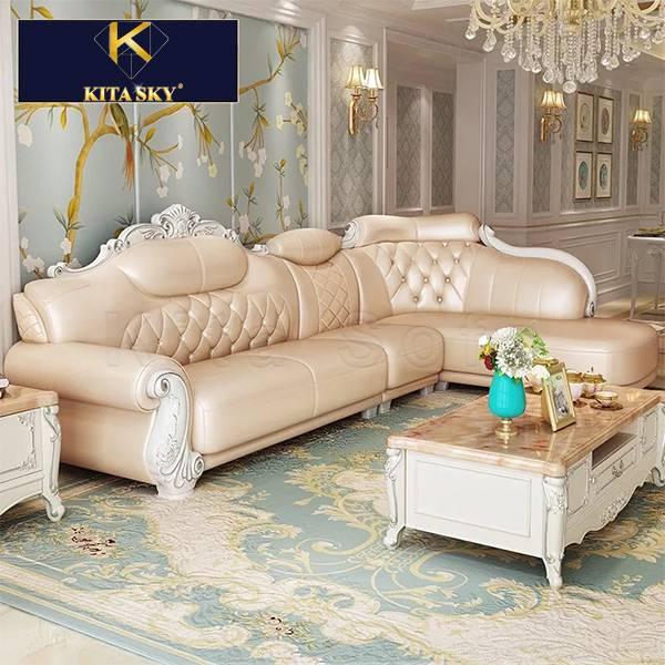 Sofa góc tân cổ điển mang trong mình hơi thở quý tộc