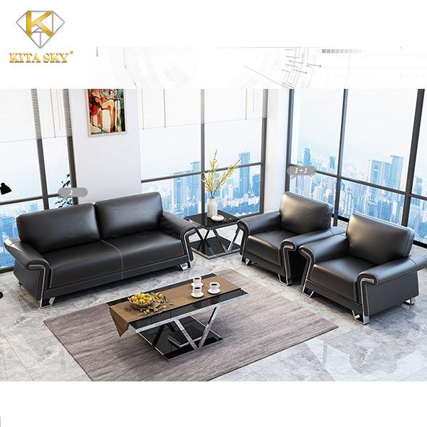 Bộ ghế sofa phòng khách bọc da Arlo mang đến sự sang trọng và lịch thiệp. Rất phù hợp để tại phòng họp hay phòng tiếp khách của công ty.