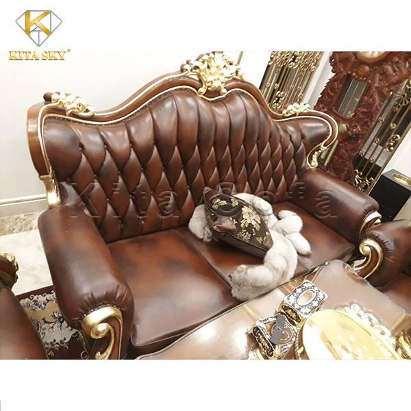 Ghế sofa dát vàng Luxus – Cho không gian sống quyền lực!