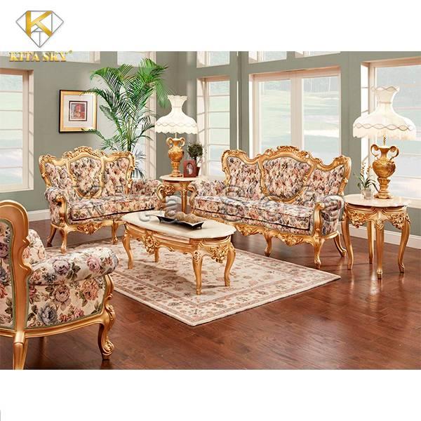 Sofa Mạ Vàng Cổ Điển Flora cực sang trọng và thu hút với thiết kế ấn tượng, sang trọng