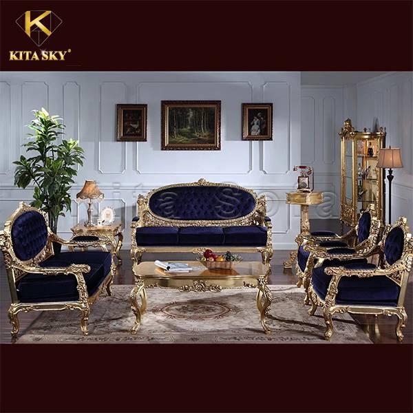 Sofa phòng khách dát vàng Edith
