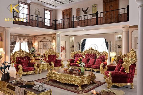 Mẫu sofa dát vàng Everlux quý tộc, sang trọng đã có mặt tại Kita Furniture