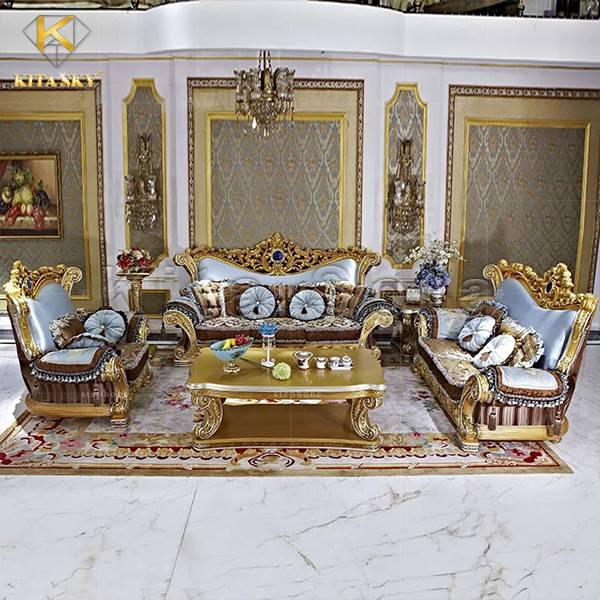 Bàn ghế sofa dát vàng Luxe với thiết kế siêu đẹp và mới lạ
