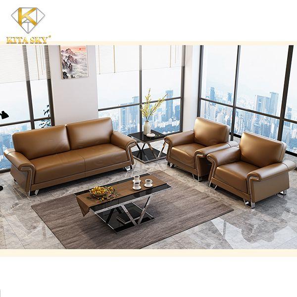 Mẫu sofa da Arlo – Nội thất sofa cho phòng khách hiện đại
