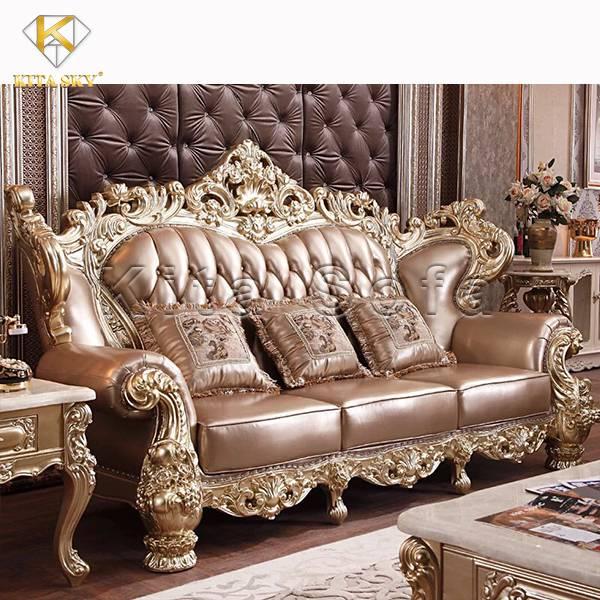 Mẫu bàn ghế sofa dát bạc dát vàng nâng tầm đẳng cấp không gian
