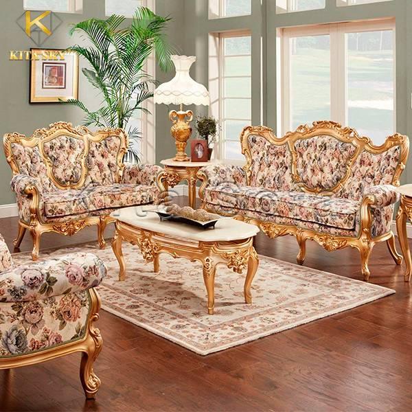 Mẫu bàn ghế sofa dát vàng cổ điển Flora đặc biệt thu hút với thiết kế và chất liệu mới lạ, độc nhất tại Việt Nam