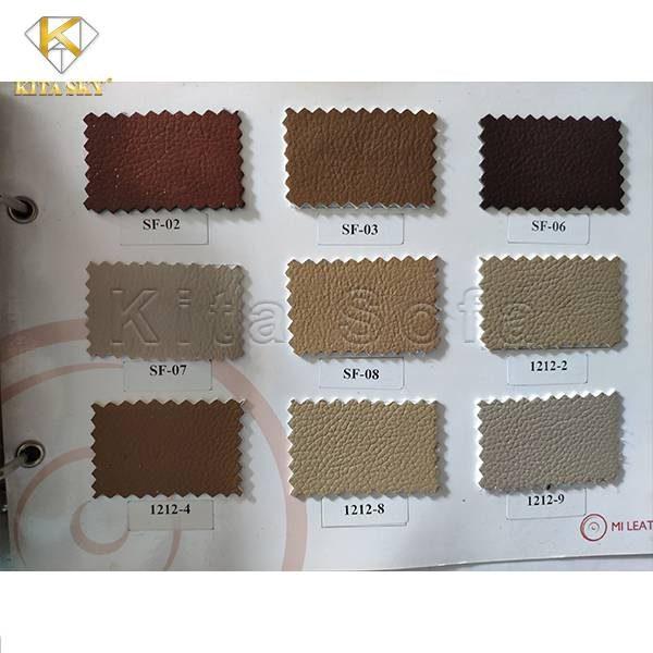 Tập mẫu da bọc ghế sofa tại Kita có nhiều màu sắc hiện đại, sang trọng.