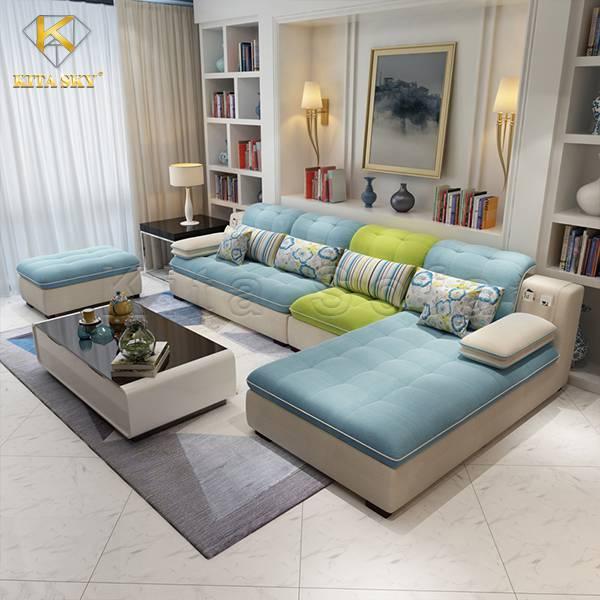 Sofa Vải Phòng Khách nhập khẩu đẹp Ceridwen sang trọng, tiện nghi