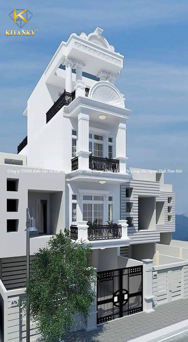 Mẫu thiết kế nhà phố đẹp giá rẻ với lối thiết kế hiện đại và sang trọng