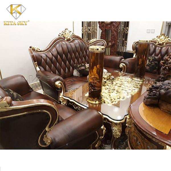 Ghế Sofa Dát Vàng Luxus đẳng cấp thượng lưu