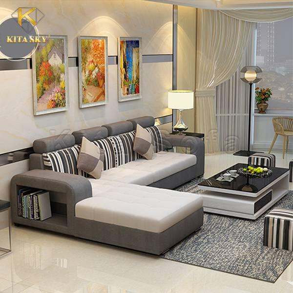Sofa Vải Bố Cao Cấp Delwyn - Thiết kế tinh tế hiện đại