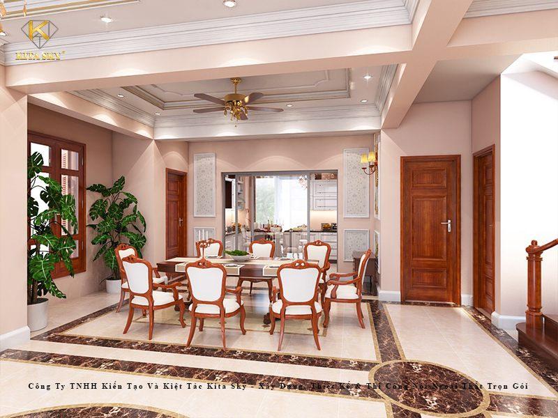 Hãy xem những lưu ý trong thiết kế nội thất biệt thự tân cổ điển, biệt thự cổ điển