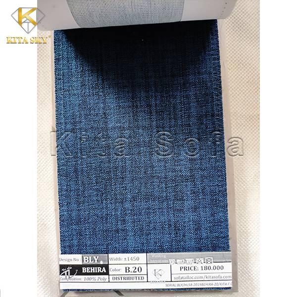 Mẫu vải bố sofa màu xanh lam đậm đầy quyến rũ và tinh tế