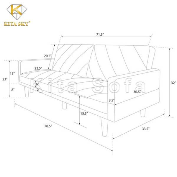 Kích thước sofa giường đa năng cao cấp Versatile