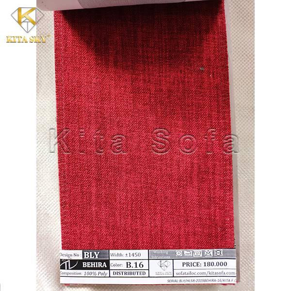 Vải sofa màu đỏ rực rỡ và đầy sức lôi cuốn