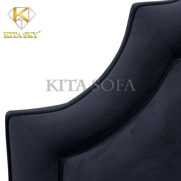 Nệm đầu giường giá rẻ cao cấp với màu đen tuyền huyền ảo. Thích hợp với không gian hướng về màu sắc như đen, xám,... Thể hiện sự sang trọng của không gian phòng ngủ.