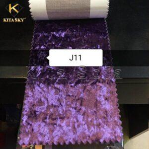 Mẫu vải nỉ may sofa màu tím đầy bí ẩn