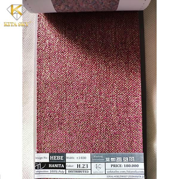 Mẫu Vải Sofa Bố Hanita với sợi vải to nhiều màu hòa trộn là tập vải rất được nhiều khách hàng ưa chuộng hiện nay.