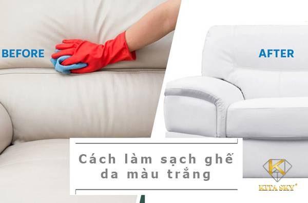Cách làm sạch ghế da màu trắng đơn giản, hiệu quả