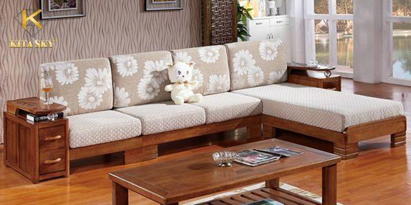 Bọc đệm cho ghế sofa gỗ mang lại sự êm ái, thoải mái
