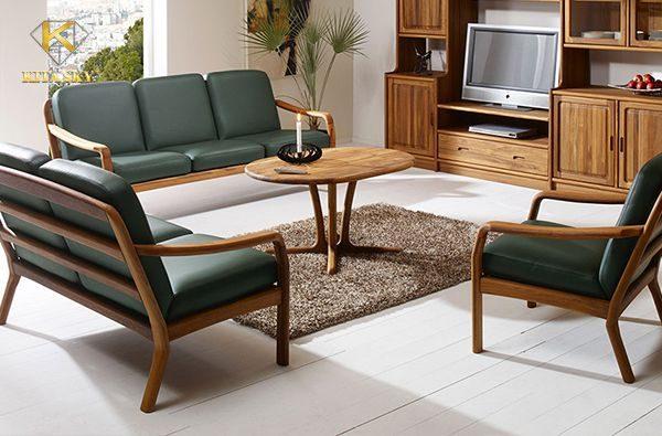 Bọc ghế gỗ bằng nệm da hay vải đều có những ưu thế riêng biệt. Chính vì thế mà bạn hoàn toàn có thể ưu tiên sở thích của mình khi chọn chất liệu bọc ghế sofa gỗ