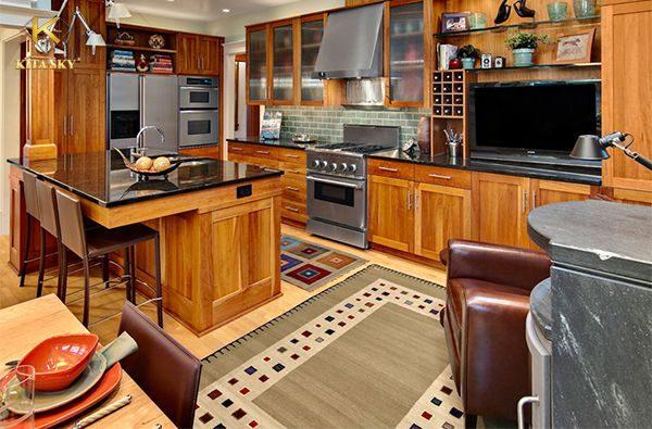 Nội thất gỗ châu Âu đi theo một tông màu tự nhiên như gỗ cũng là một trong những phong cách thiết kế được lòng nhiều khách hàng