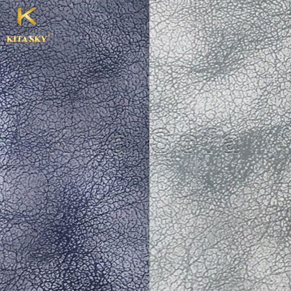 Mẫu vải da sofa tông màu xám và xanh đậm cũng là 2 mã vải khá được ưa chuộng trong thời gian qua