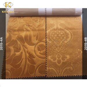 Mẫu vải nỉ đẹp màu vàng đồng giúp không gian ấm cúng, sang trọng
