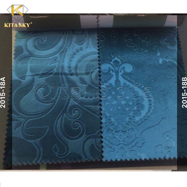Mẫu vải nỉ sofa màu xanh coban thu hút