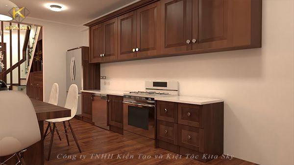 Nội thất hiện đại nhà bếp với hiệu ứng tuyệt vời đến từ chất liệu bằng gỗ