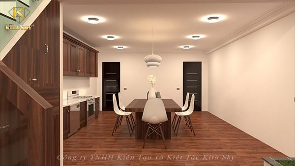 Nội thất phòng ăn hiện đại với đường nét thiết kế tinh tế, gọn gàng và đầy sức hút