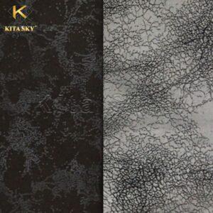 Vải giả da với 2 tông màu đen - xám thời thượng cùng đường vân da ấn tượng