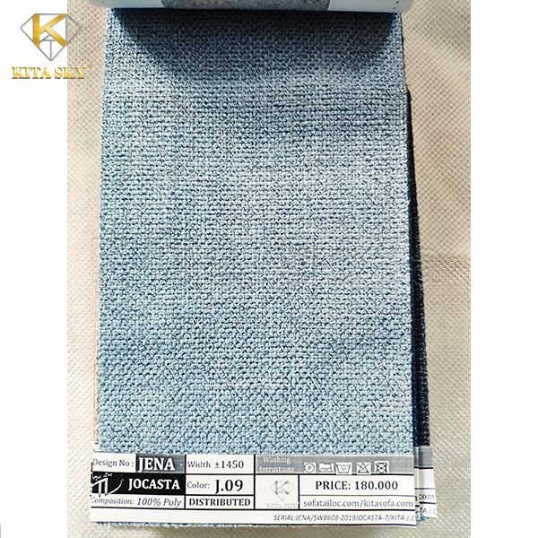 Vải may nệm ghế màu xám xanh nhẹ nhàng và ấn tượng