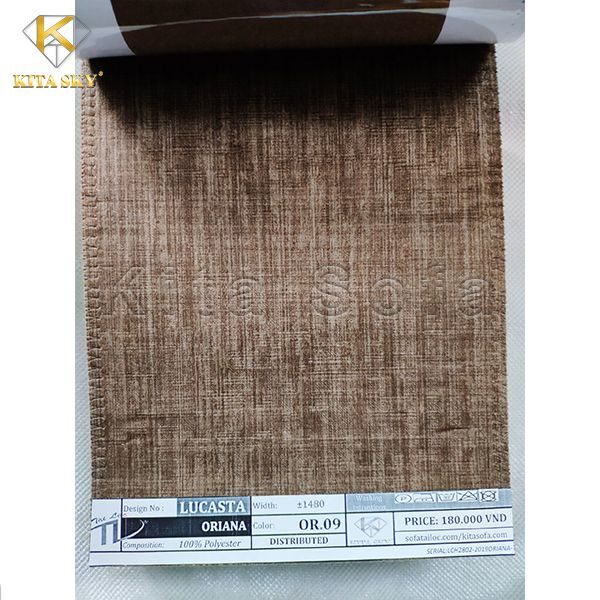 Vải bọc cho sofa màu nâu đất sang trọng