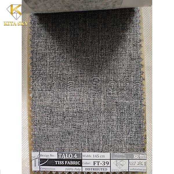Vải đẹp làm sofa màu xám đậm sang và sạch