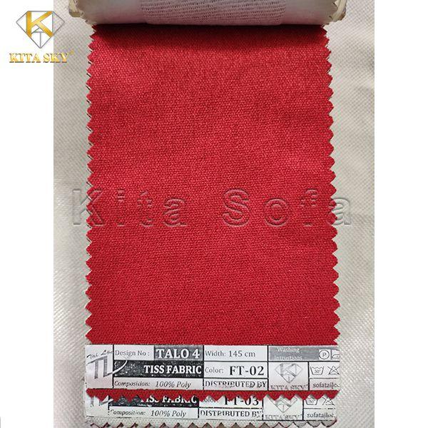 Vải làm sofa cao cấp màu đỏ nổi bật và ấn tượng