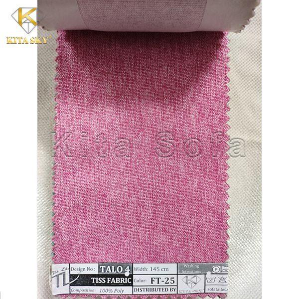Vải làm sofa giá rẻ màu hồng ngọt ngào
