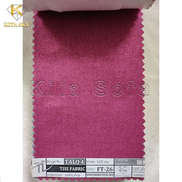 Vải làm sofa màu hồng cánh sen quyến rũ