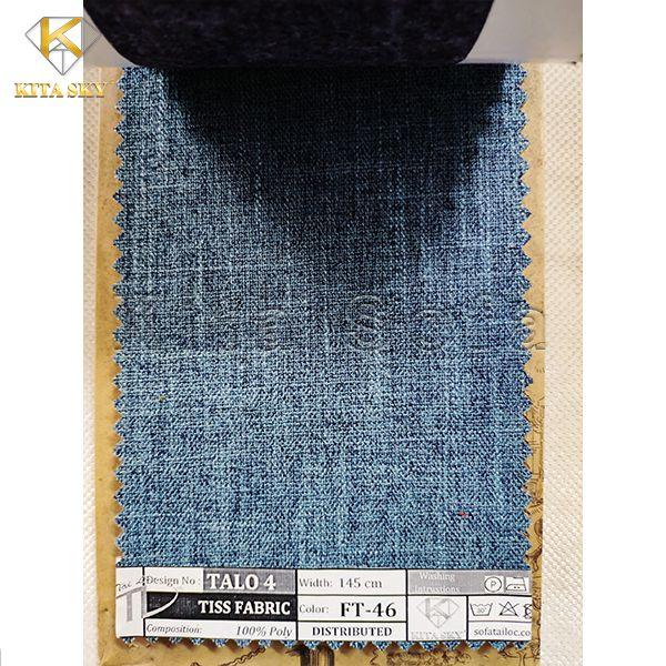 Vải may cho sofa màu xanh biển