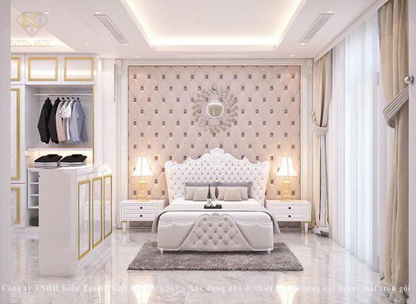 Nội thất tân cổ điển phòng ngủ đẹp đậm chất hoàng tộc vô cùng êm ái và ấn tượng