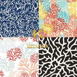 Vải hoa văn san hô coral pattern