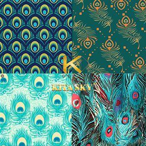Vải họa tiết con công peacock pattern