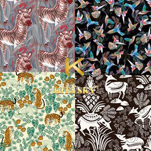 Vải họa tiết Conversational pattern