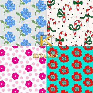 Vải họa tiết half drop pattern